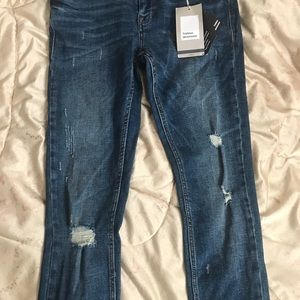 Zara Jeans - Distressed dark wash Zara jeans